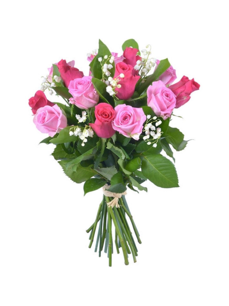 CHANCE - BOUQUET ROSES ET MUGUET