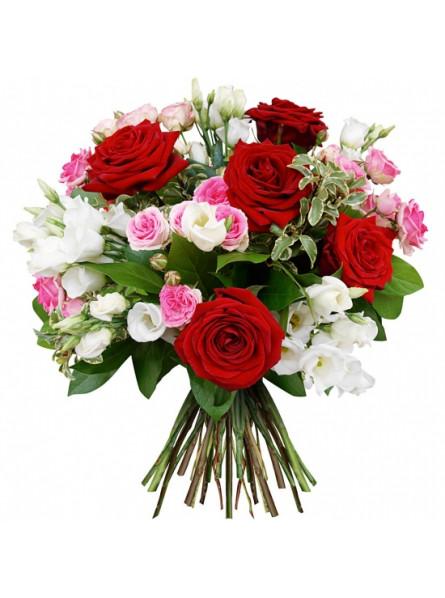 BOUQUET DE ROSES ROMANTICA. LIVRAISON FLEURS - ENVOI FLEURS - ENVOYER DES FLEURS