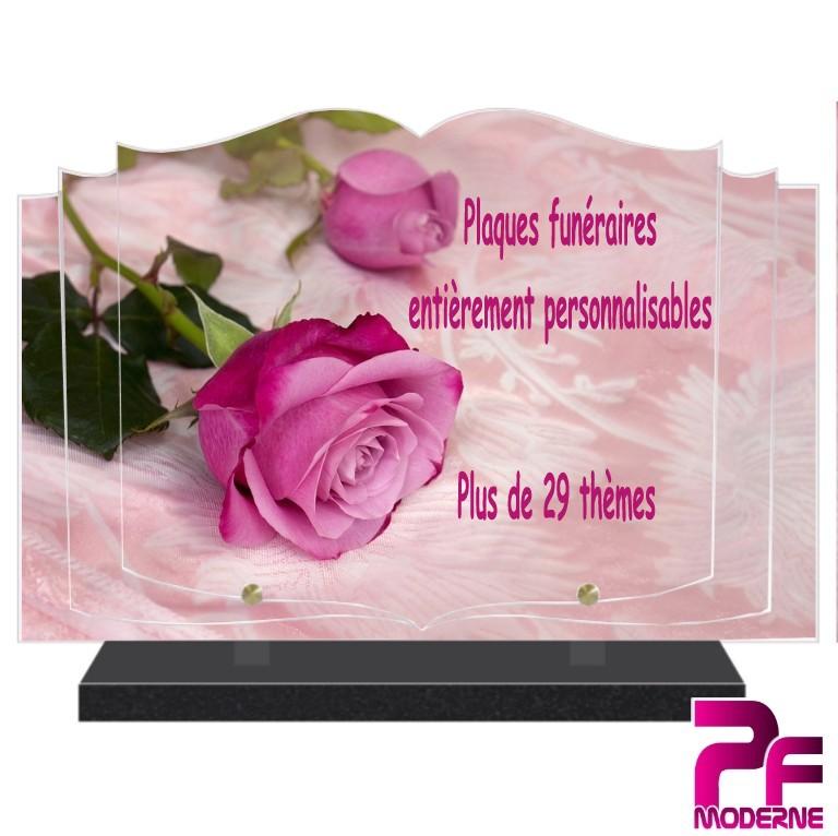 PLAQUE FUNÉRAIRE PERSONNALISABLE MARIGNY 03
